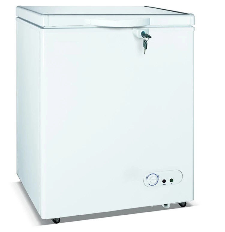 200L Top Open Single Solid Door Commercial Freezer, Chest Freezer Removable Storage Basket For Food Storage