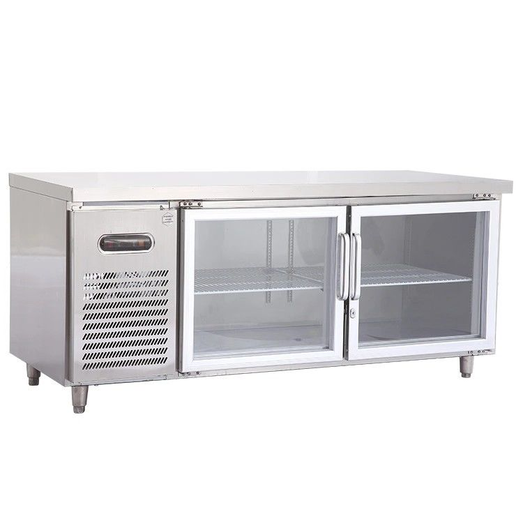 270L Commercial 2 Door Under Bench Fridge Convenient Design For Maintenance