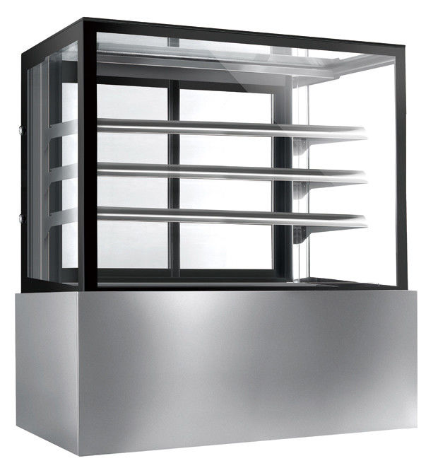 Commercial Glass Cake Display Cabinet , Auto Defrost Cake Display Chiller,1800mm Length and 800L Cake Fridge