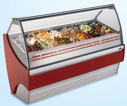 380L Ice Cream Showcase Freezer With Digital Temperature Controller And 1216mm Length