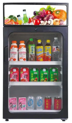 125L New Design Single Glass Door ABS Inner Saving-engergy Fan Cooling Portable Display Fridge / Beverage Showcase